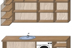 кухня лофт проект 3