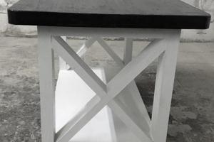 журнальный столик Касл черно-белый чб