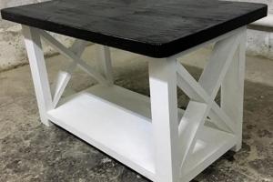 журнальный столик Касл черно-белый