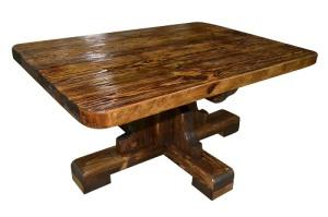 стол журнальный из брашированной сосны