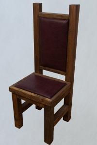 стул с обивкой из дерева