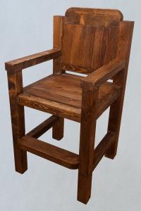 кресло барное из состаренной сосны