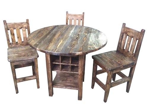 барные стулья и барный столик из сосны