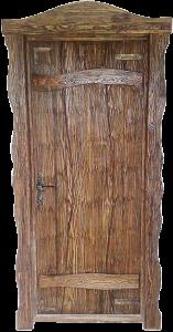 дверь в баню из состаренной сосны