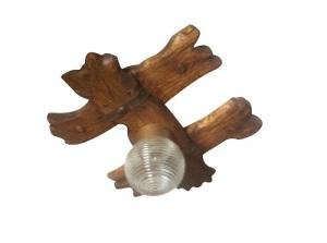 люстра из дерева с одним плафоном