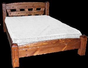 кровать из дерева в деревенском стиле
