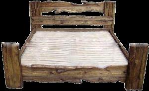 кровать из сосны в деревенском стиле