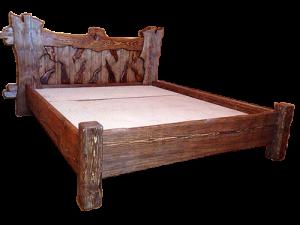 кровать деревянная состаренная