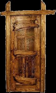 дверь под старину со стеклом