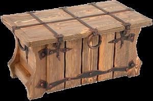 сундук с ковкой из массива сосны