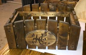 кашпо декоративное из дерева