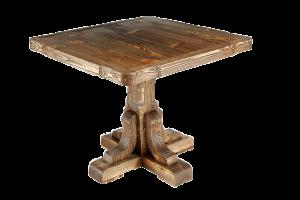 Стол квадратный из массива дерева под старину