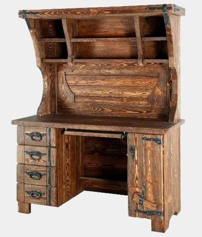 Стол компьютерный под старину из массива дерева