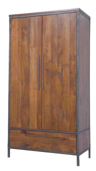 шкаф дерево металл в стиле лофт
