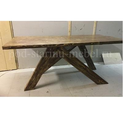 стол из массива в стиле лофт дизайнерский
