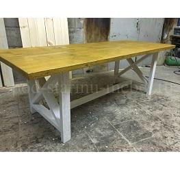 стол Касл в стиле лофт с перекрестиями миниатюра
