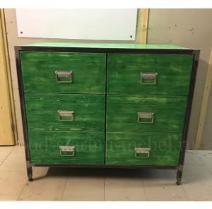 комод в стиле лофт зеленого цвета миниатюра