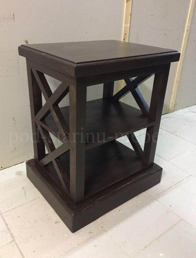 тумба прикроватная в черном цвете стиля лофт