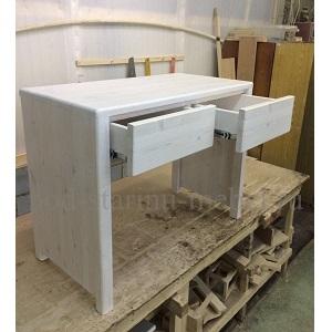 Столик в стиле лофт туалетный в белом цвете миниатюра