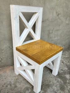 стул из массива в стиле лофт