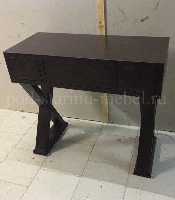 туалетгый столик в черном цвете стиля лофт