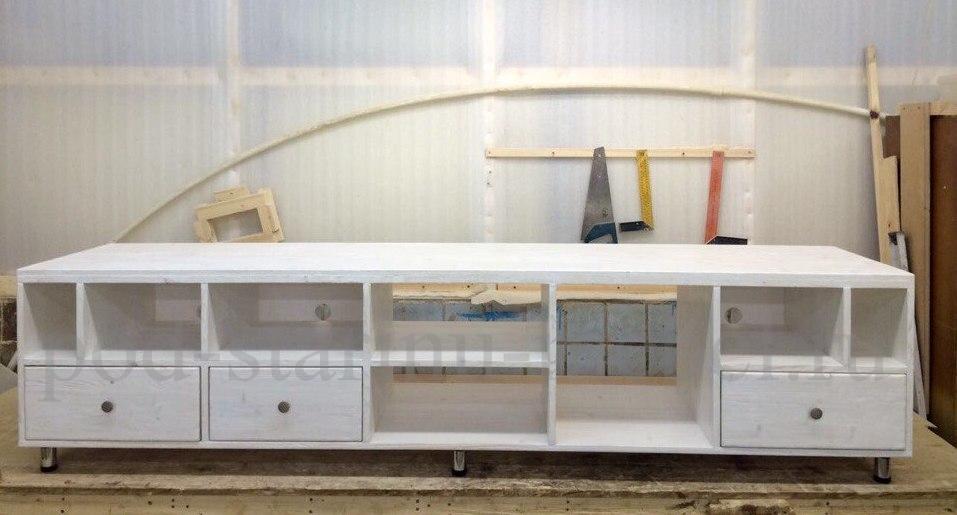 Комод в стиле лофт из массива с ковкой