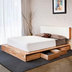 кровать с ящиками в стиле лофт