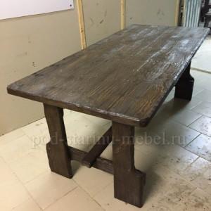 Стол из массива под старину Кузнец