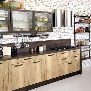 Кухня в стиле лофт из массива дерева_мин.