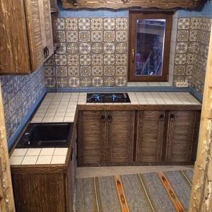 Кухня под старину из массива сосны