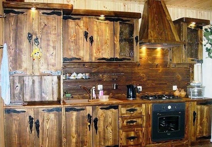 Деревянные кухни для дачи недорого
