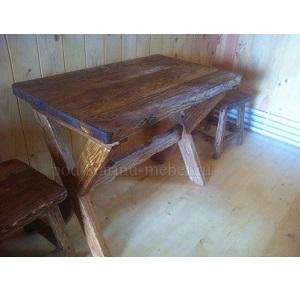 Стол из массива под старину Лесник