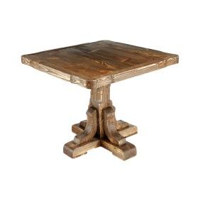 Стол из массива под старину Премьер квадратный