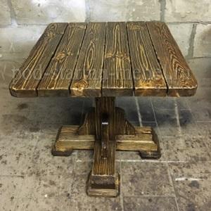 Стол из массива под старину Трапезный квадратный