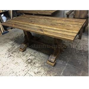 Стол из массива под старину Трапезный