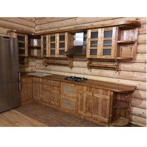 кухня в стиле кантри из массива сосны