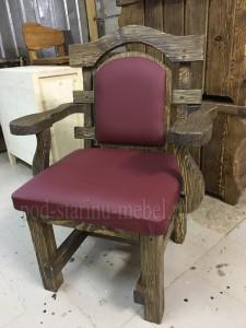 Кресло из массива сосны под старину Премьер