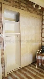 Шкаф-купе из массива сосны