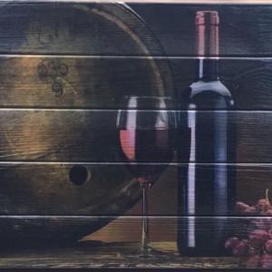 Картина на дереве Вино