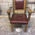 Кресло из массива сосны под старину с обивкой Граф
