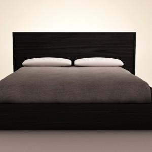 Кровать из массива сосны в стиле лофт
