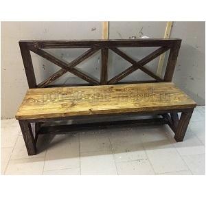 скамья в стиле лофт из массива сосны