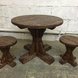 Комплект мебели под старину из массива сосны