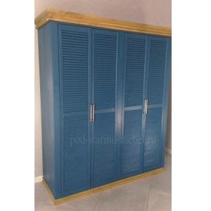 Шкаф из массива дерева с жалюзийными дверками