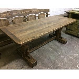 Стол под старину из массива сосны Аким