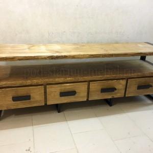 Тумба под ТВ в стиле лофт Орлеан с четырьмя ящиками