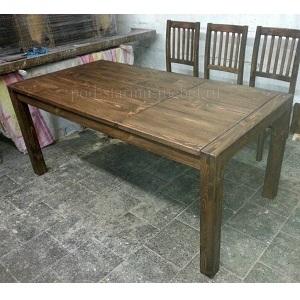 Стол деревянный раскладной из массива сосны