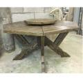 Стол из массива сосны под старину восьмигранный