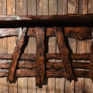 Вешалка из массива сосны под старину
