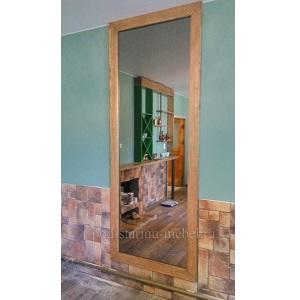 Зеркало из массива сосны большое